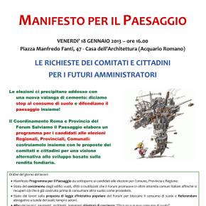 L'assemblea di Salviamo il Paesaggio mobilita i cittadini di Roma contro il cemento