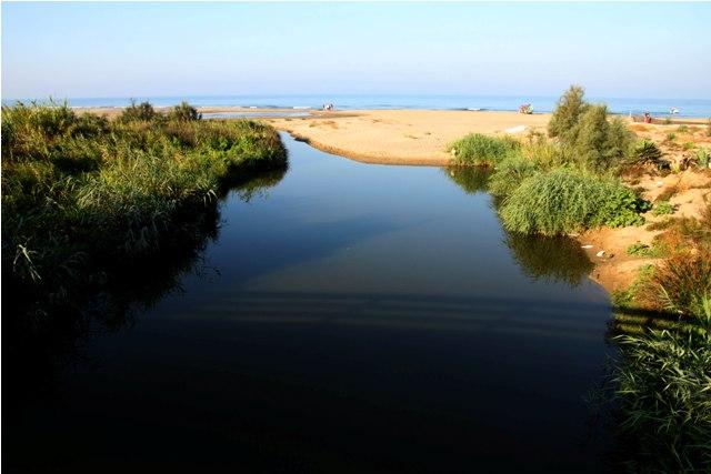 Il Rio Tre Denari, la foce