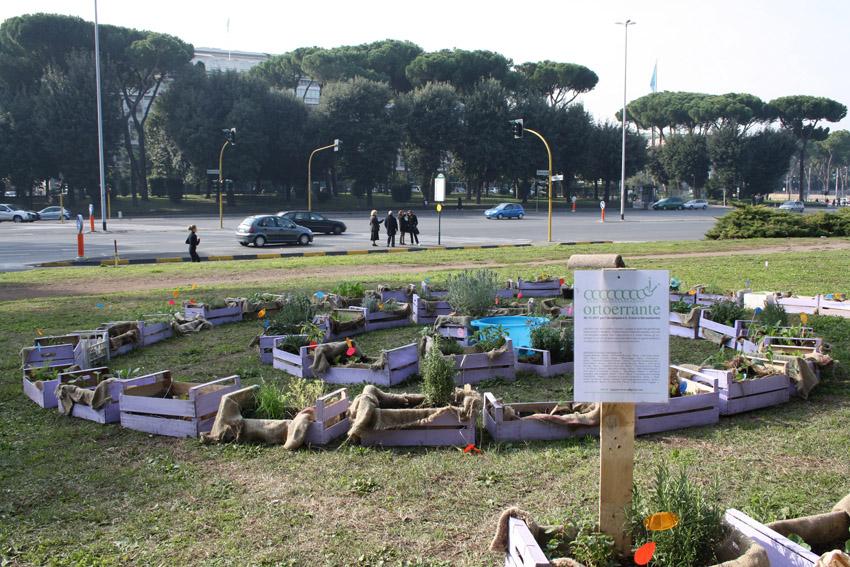 Orti e giardini condivisi - Orto Errante a Caracalla per Occupy Roma - Foto Zappata Romana 01