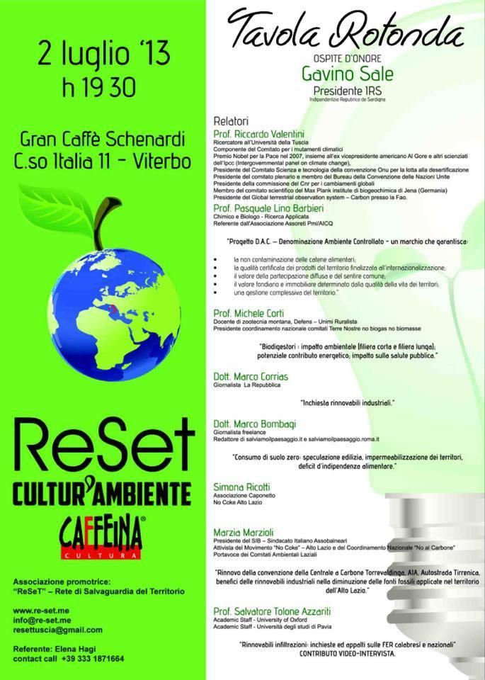 ReSet e Cultur'ambiente per Territorio Zero