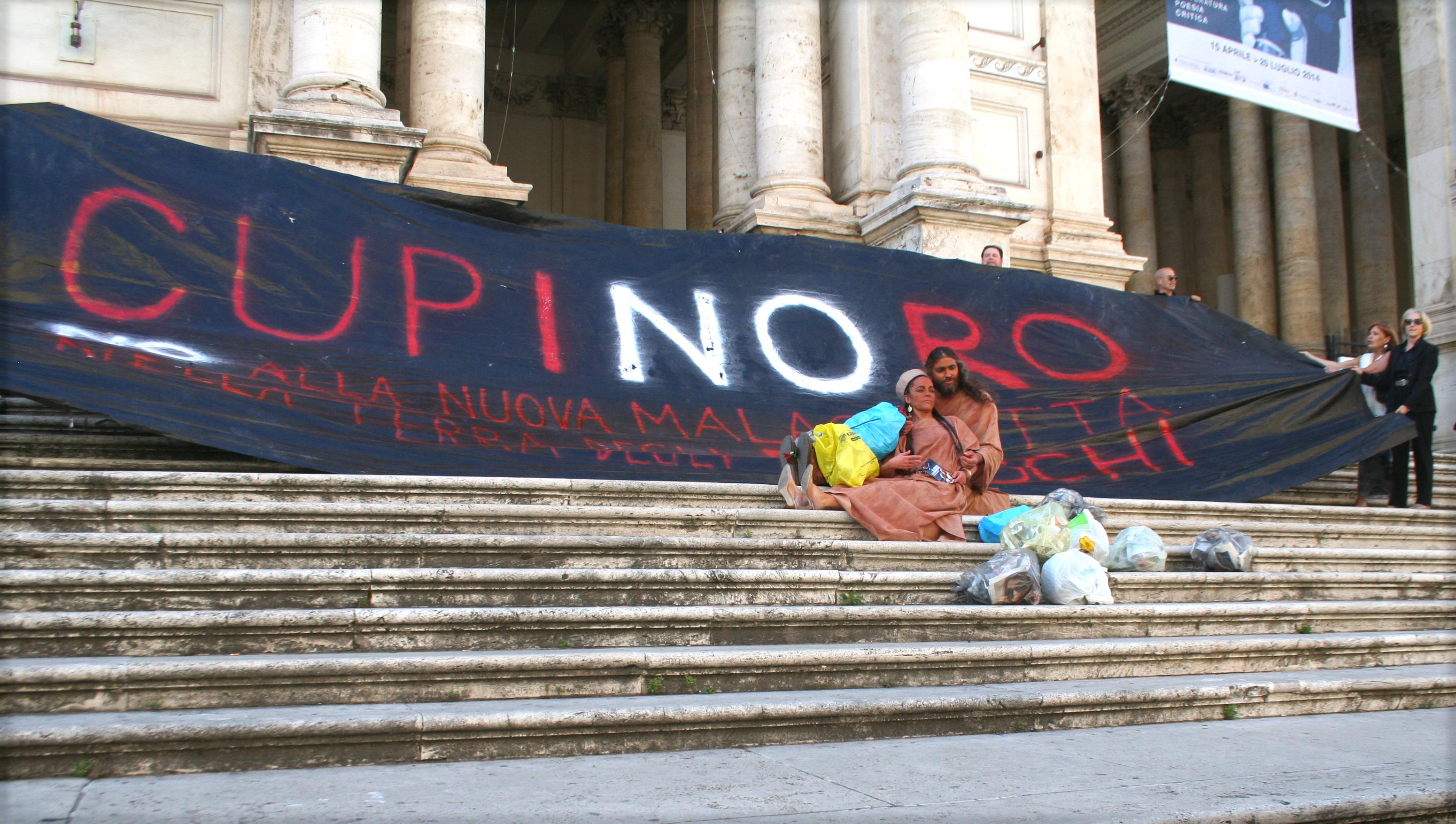 Momento del Flash Mob al Palazzo delle Esposizioni