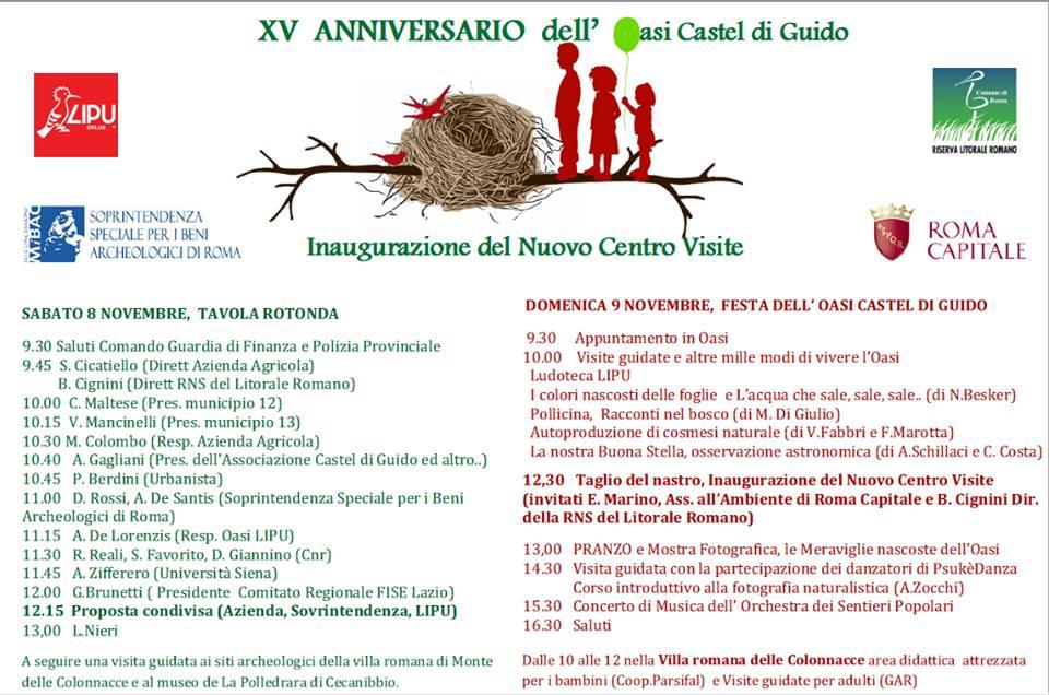 Oasi Castel di Guido, XV di questi anni