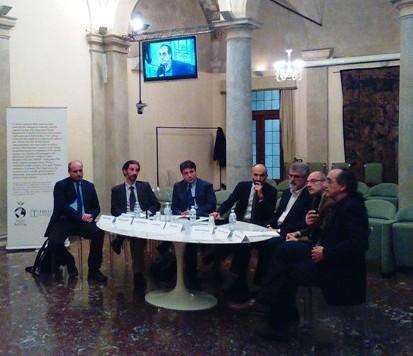 Un momento della tavola rotonda presso il palazzo dell'Istituto Treccani