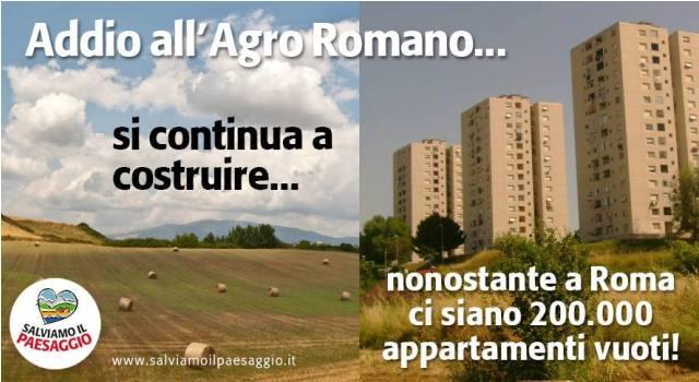 Addio all'Agro Romano, si continua a costruire nonostante a Roma vi siano 200.000 appartamenti vuoti