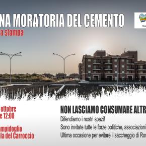 """I cittadini contro il cemento: """"Basta con il saccheggio di Roma"""""""