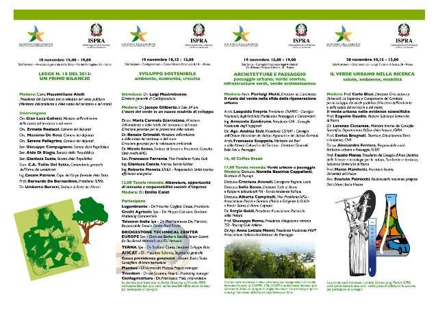 Stati Generali del Verde Urbano, il programma