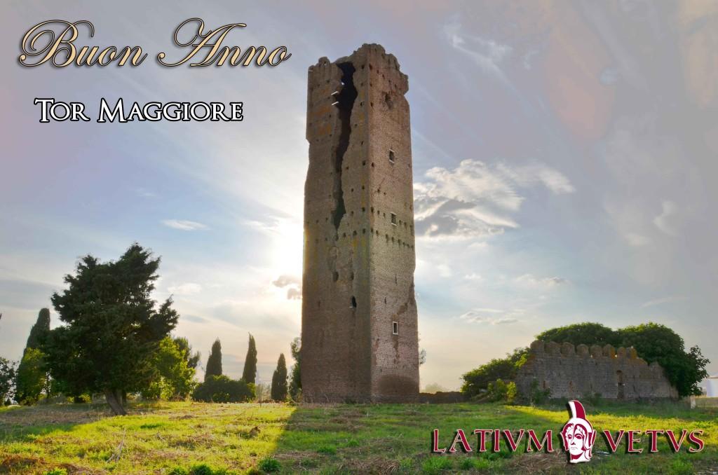 Panoramica di Tor Maggiore, complesso medievale della campagna romana