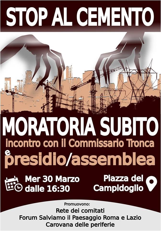 """Roma, i cittdini da Tronca: """"Stop al cemento"""""""