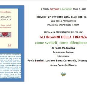 """""""Gli inganni della finanza"""", il libro di Paolo Maddalena contro i distruttori di futuro"""