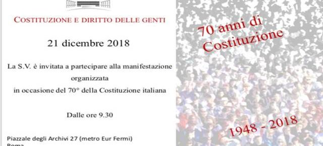 Costituzione italiana, una mostra speciale per il 70° anniversario