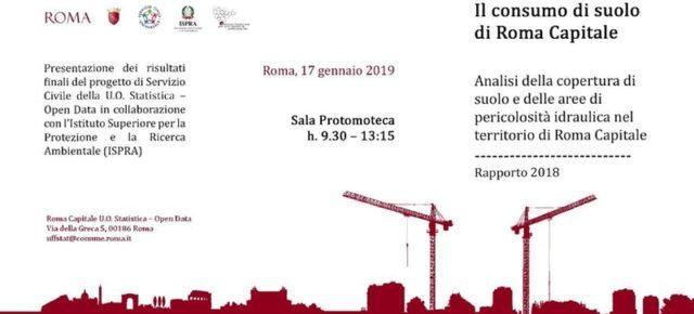 Il consumo di suolo a Roma, la mappatura della città
