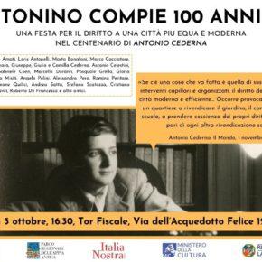 Tonino compie 100 anni, festa a Tor Fiscale